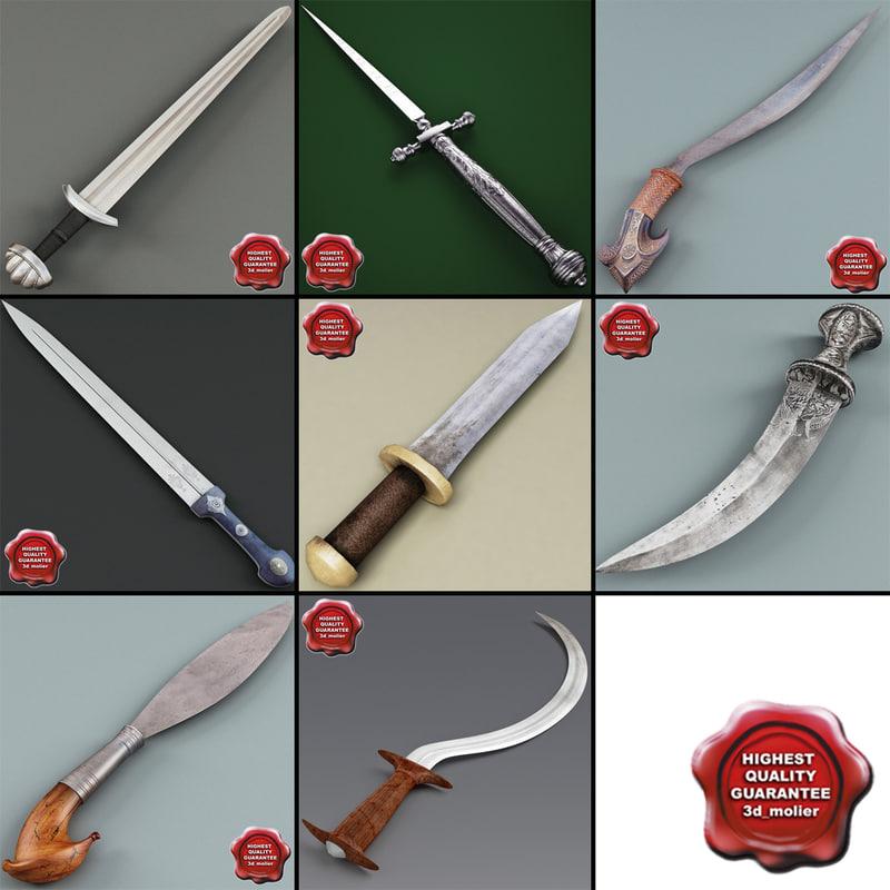 3d swords v3 model