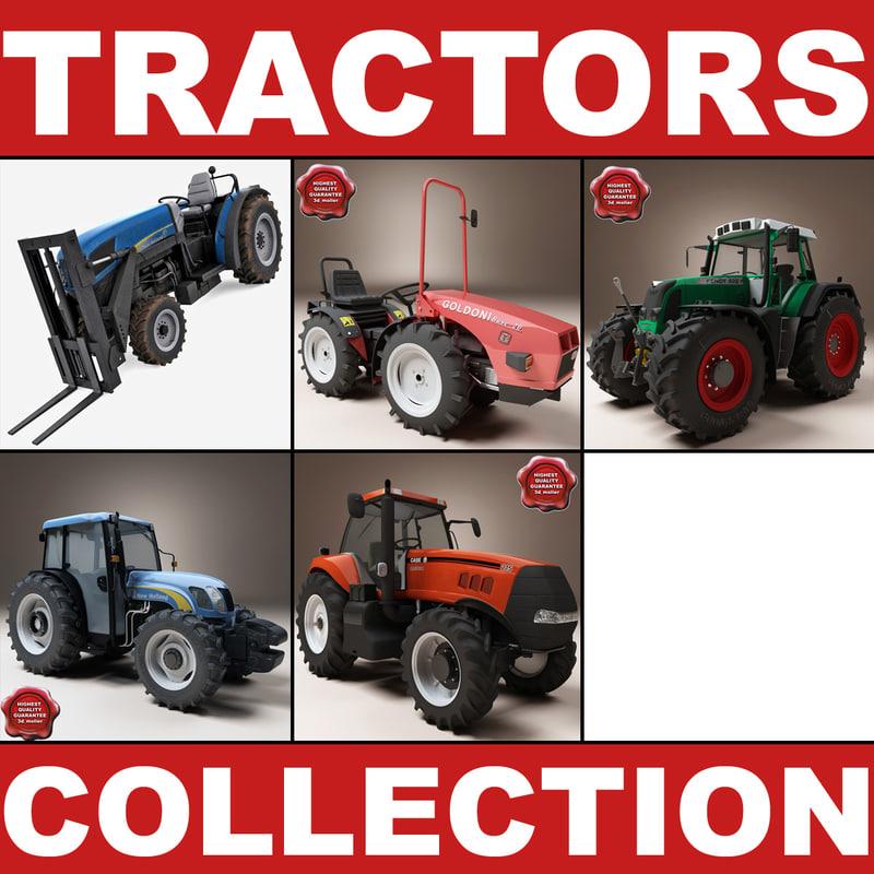 tractors v2 3d model