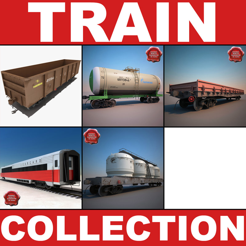 3d model of trains v2