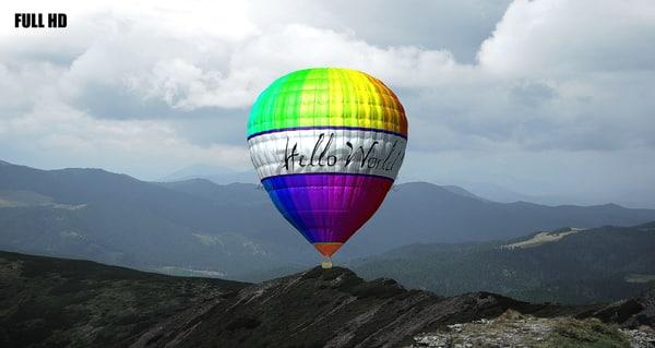 3d model of hot air balloon