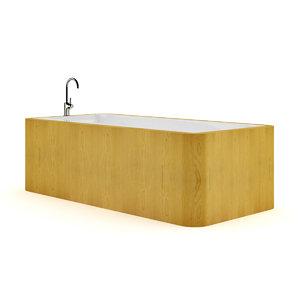 3ds max bathtube wooden elements 2
