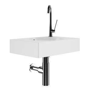 square batroom sink 3d model