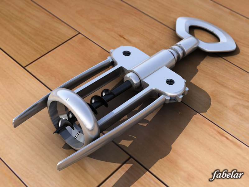 3d max corkscrew cork screw
