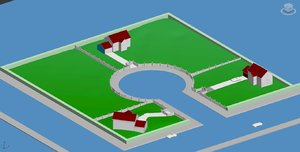 3d model houses cul sac