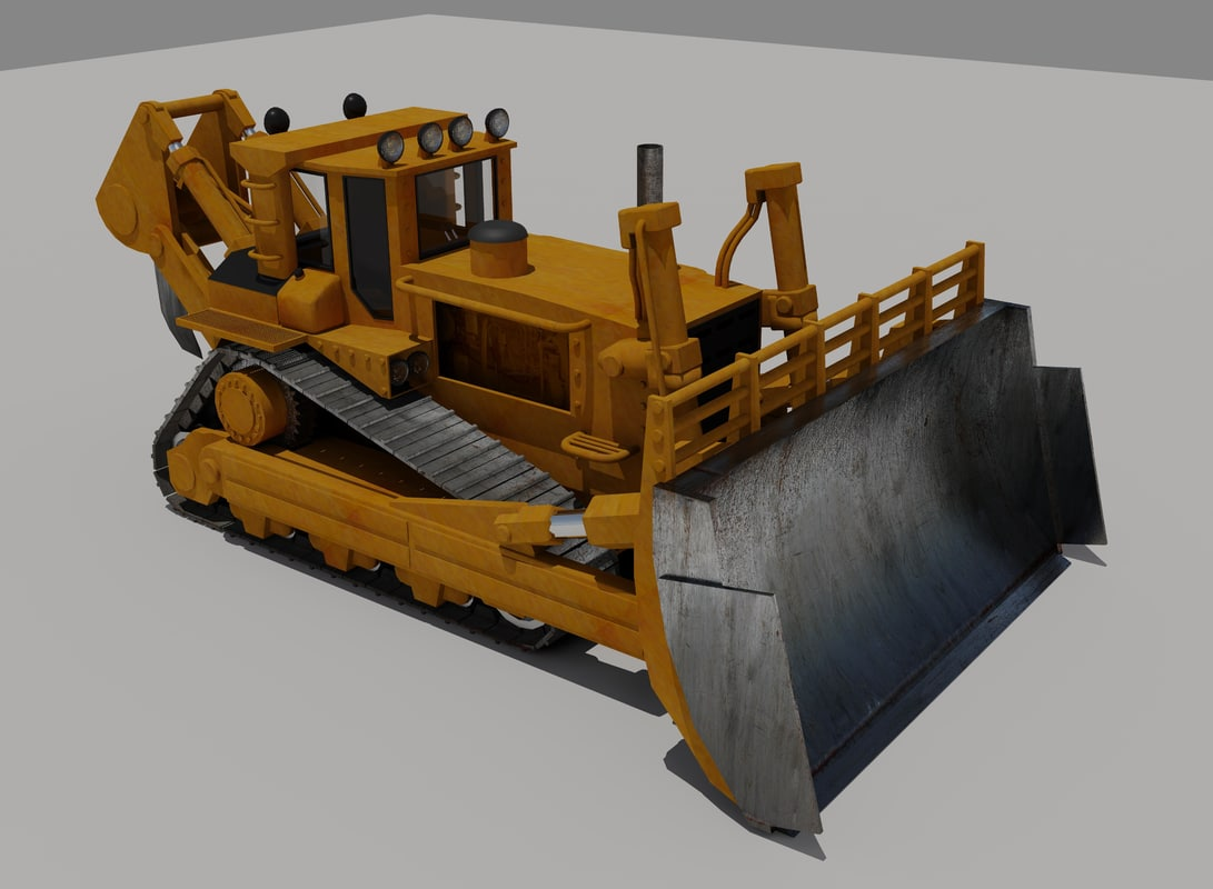 3ds max tractor bulldozer industrial