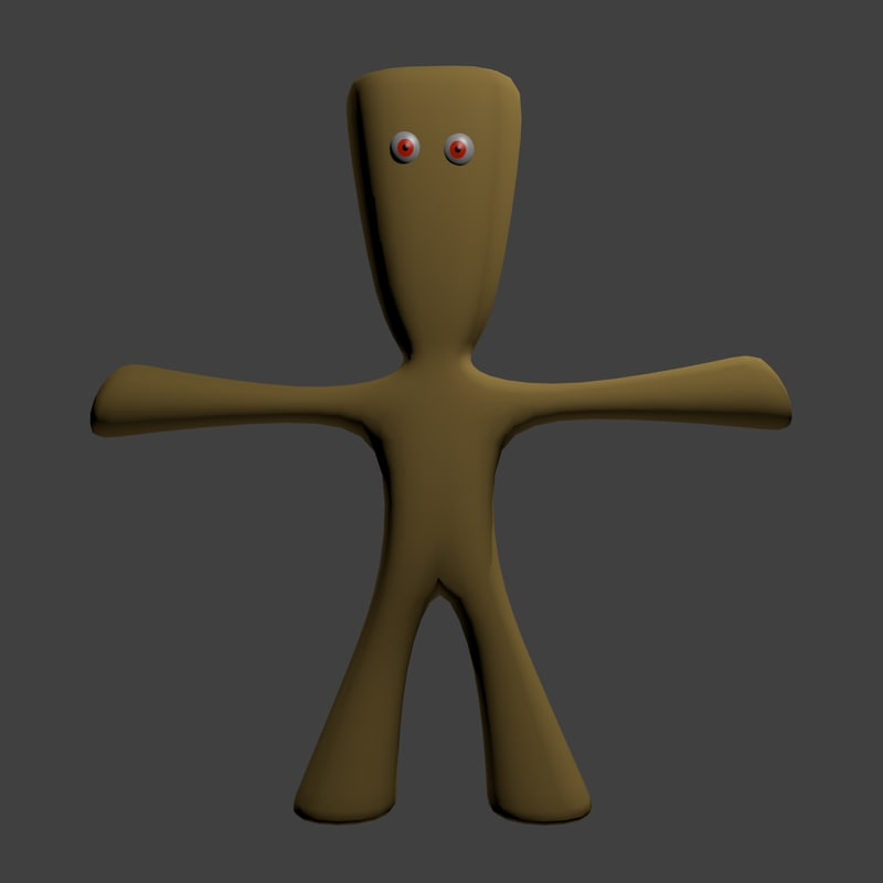 teddy-like character 3d 3ds
