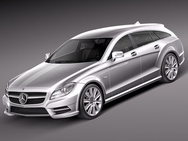 c4d mercedes benz cls luxury
