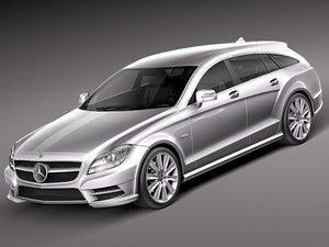 c4d mercedes benz cls luxury