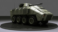 8 Wheels Military Vehicle
