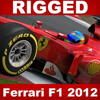 ferrari f1 2012 rigging 3d max