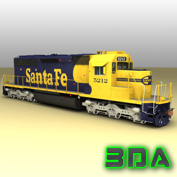 3ds max emd sd40-2 engines sf