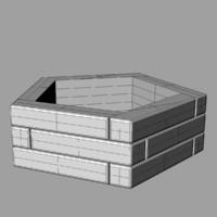 pentagonal flowerpot 3dm free