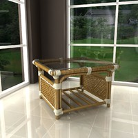 albany rattan coffee table 3d max