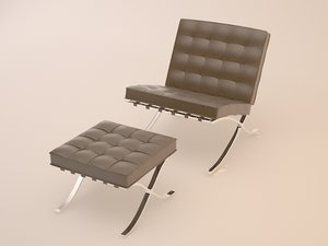 obj barcelona chair