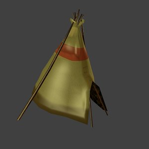 3ds max tipi tent s