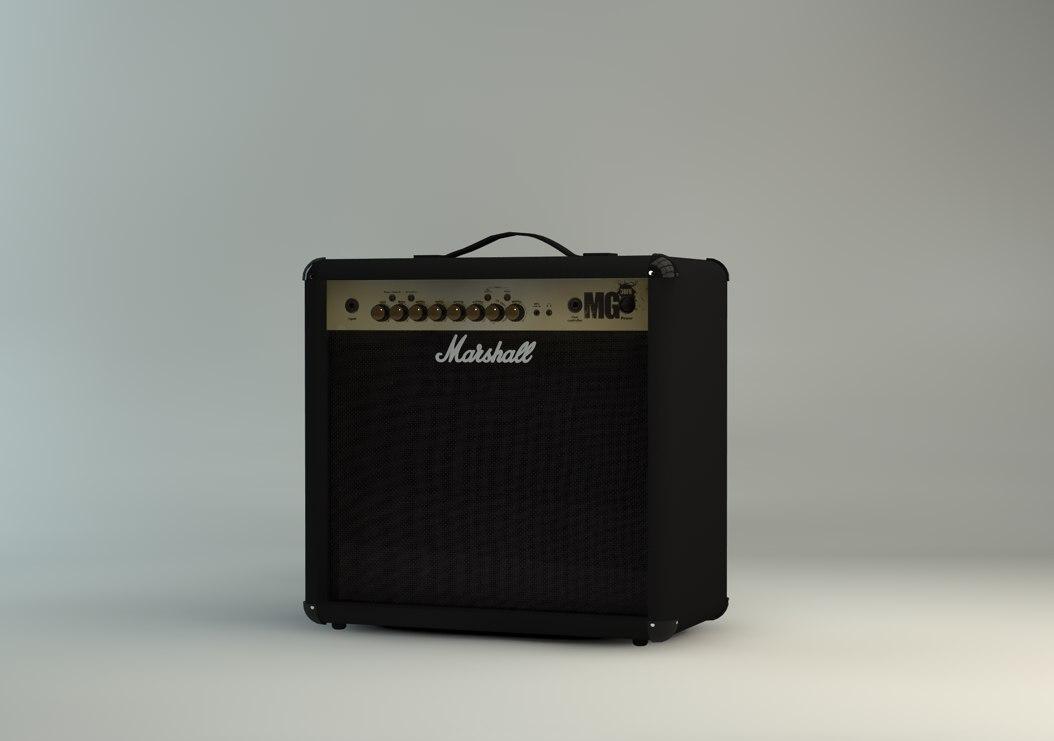 marshall amplifier 3d c4d