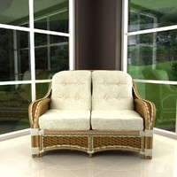 3d albany rattan sofa model