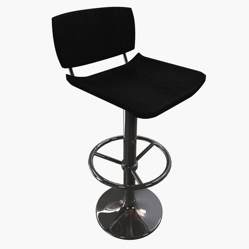 3d chair stool model