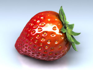 3ds max strawberry fruit