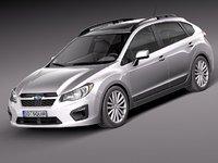 3d subaru impreza 2013 5-door model