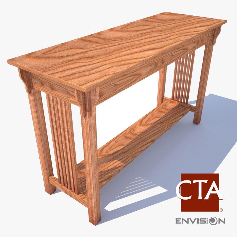 sofa table 3d 3ds