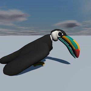 3d model toco toucan birds