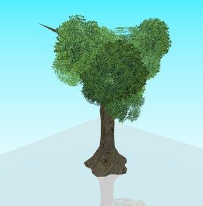 obj tree leafes