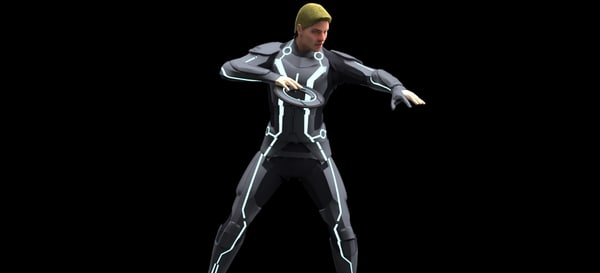 3d sam flynn tron: legacy model