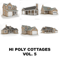 3ds max hi-poly cottages vol 5