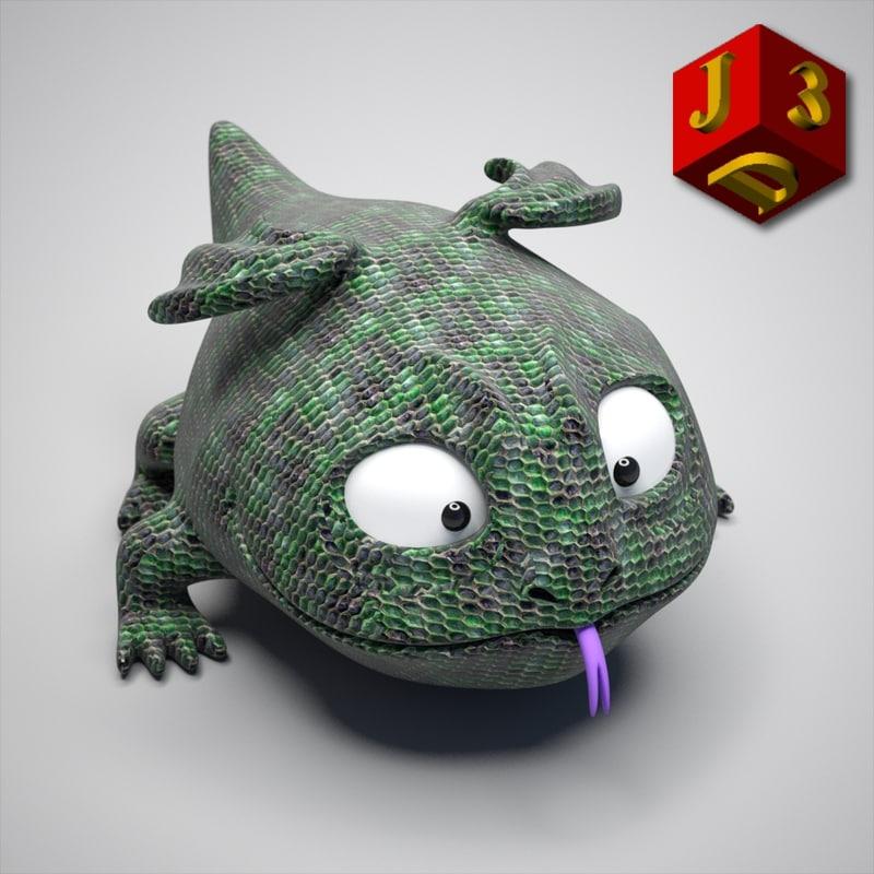 dragon toy 3d c4d