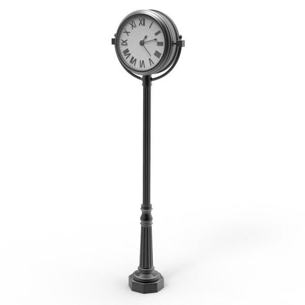 o clock downtown 3d model