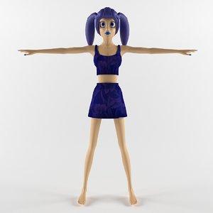 3d max girl anime