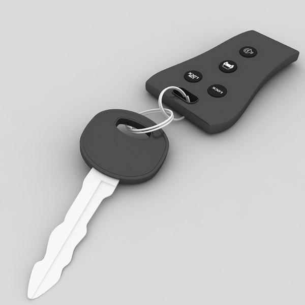 car keys remote 3d 3ds