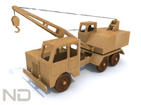 3ds max toy truck crane
