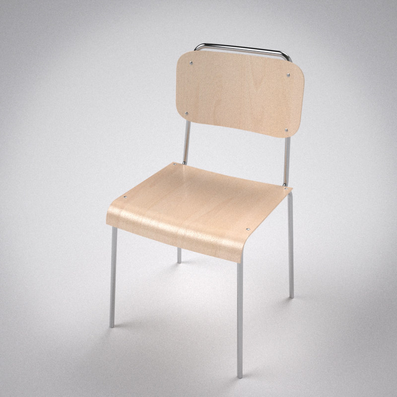 school chair 3d c4d
