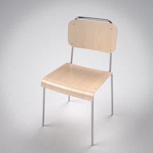 school chair 3d c4d