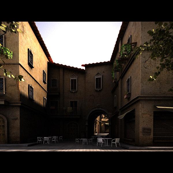 3d italian alley