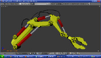 rigid arm 3d blend