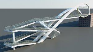 3dsmax bridge transportation highway