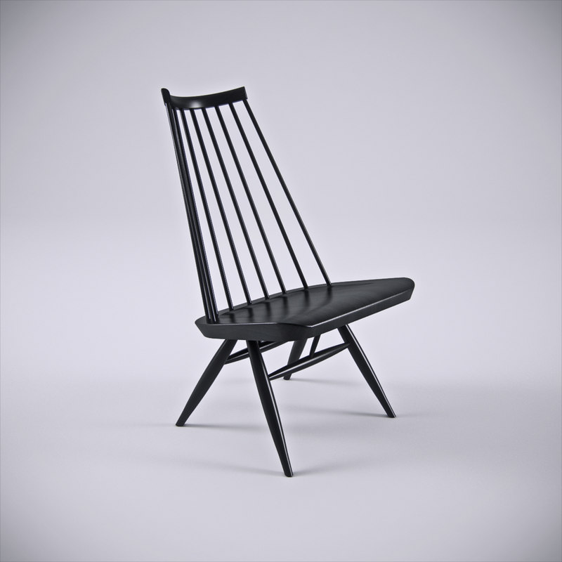 3d model artek mademoiselle lounge chair