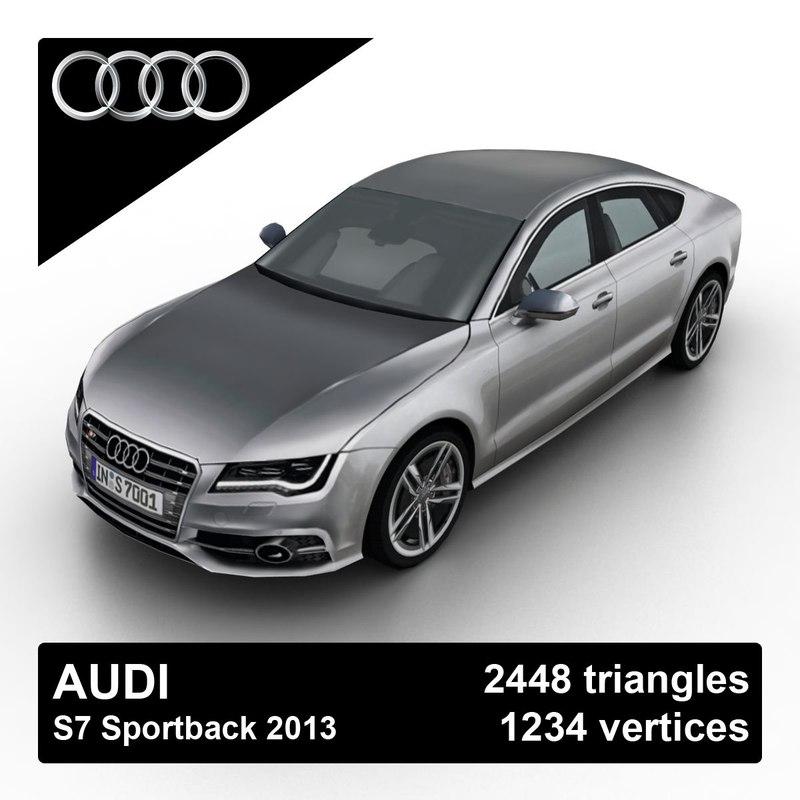 3d 2013 Audi S7 Sportback Model