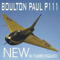 boulton paul p111 3d obj