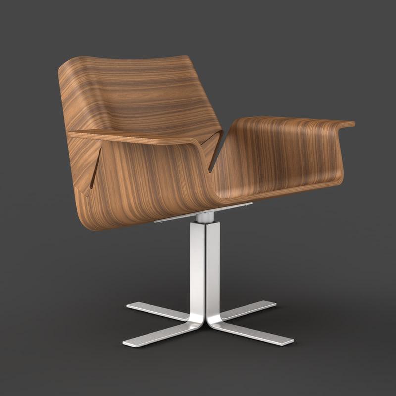 3d model buttercup chair
