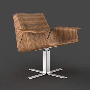 3d model buttercup chair