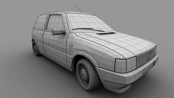 3d model of fiat uno turbo