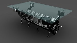 3d engine table v12 model