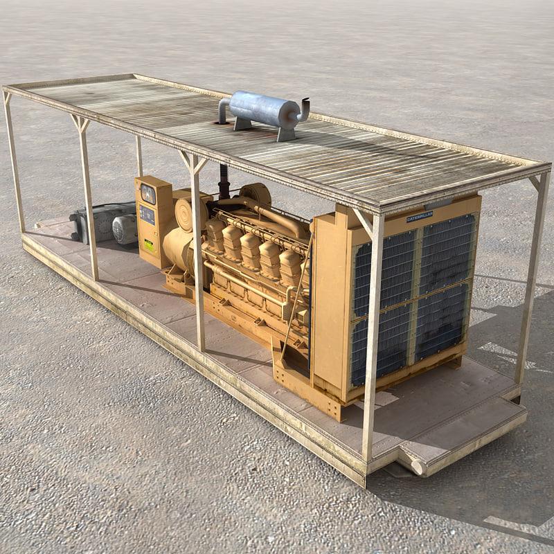 diesel generator shelter 3d model