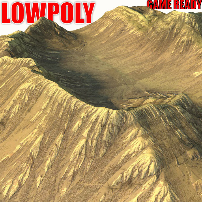 3d canyon landscape model
