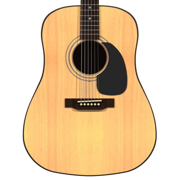 3d model guitar acoustic