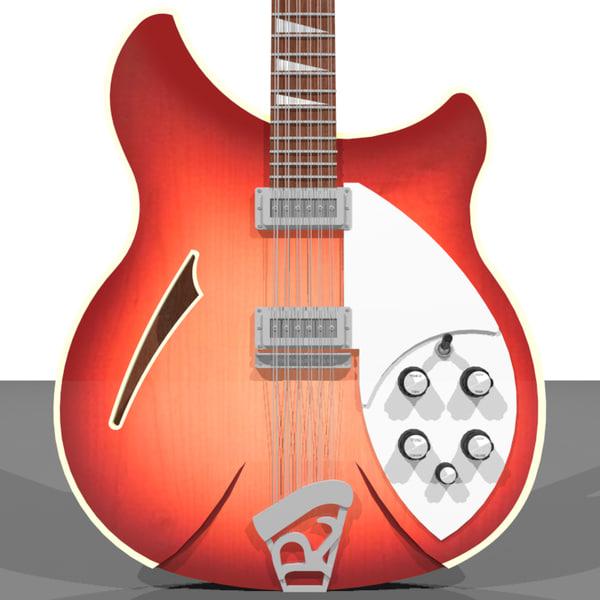 guitar electric rickenbacker c4d